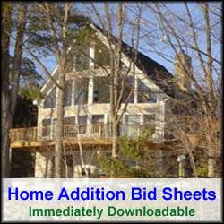 Home Addition Bid Sheets