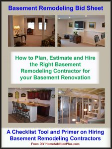 Basement Remodeling Bid Sheet