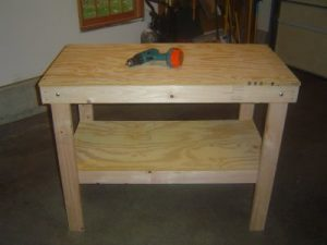 Finished Garage Workbench