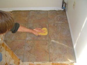 Final grout cleaning