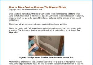 How to ceramic tile a shower sample page 1