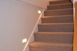 Recessed stair lighting