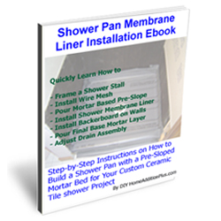 Shower Membrane Liner installation Ebook