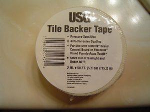 Tile backer board tape