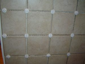Use tile spacers when tiling walls