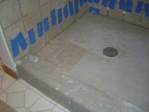 Tiling a shower curb
