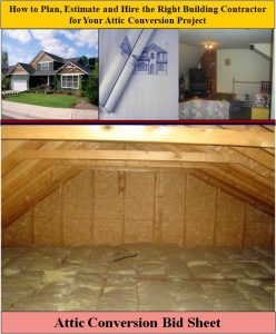 Attic Conversion Bid Sheet