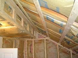 attic bedroom conversion with insulated walls and ceiling.