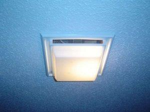 Bathroom ventilation using a bathroom exhaust fan.