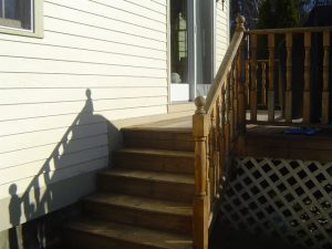 How to build deck stair railings.