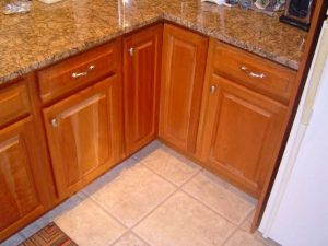 Removing kitchen countertop cabinets