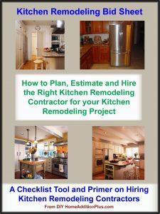 Kitchen Remodeling Bid Sheet