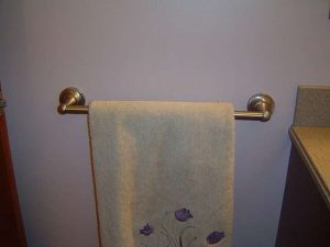 How to install a towel bar.