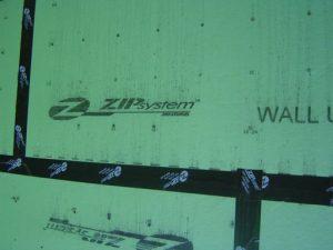Zip system wall sheathing