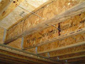 Framing with Engineered lumber like Engineered wood I-beams.