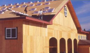 Plywood sheathing versus OSB Sheathing for walls, subfloor, and roofs.
