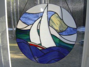 "Sailboat with Chain 20"" in Diameter"