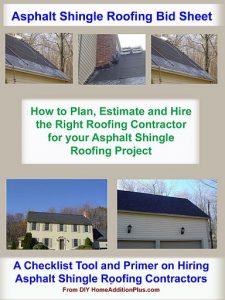 Asphalt Shingle Roofing Bid Sheet