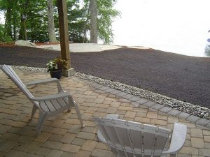 Polymeric Sand compact is a key ingredient in building a lasting patio with concrete patio pavers.