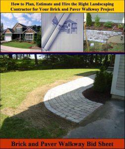 Brick and Paver Walkway Bid Sheet
