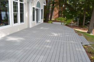 Completed deck resurfacing with Trex Select Composite Decking