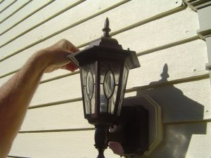 Motion Detector Technology built into exterior lights.