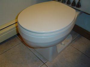 Rocking toilet repair.