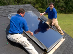 Solar Water Heating System Installation