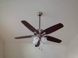 How to install a ceiling fan.