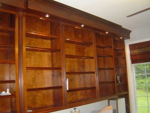 Custom Building of Bookcases and Cabinets