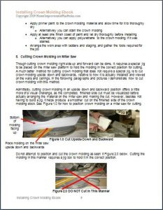 Installing Crown Molding EBook Sample Page