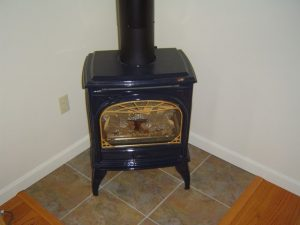 Direct vent gas stove fireplace