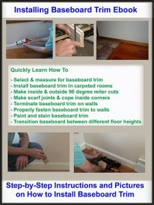 Installing Baseboard Trim Ebook cover page