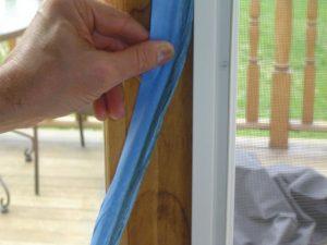 Wipe down door frame.