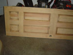 Sanded wood door