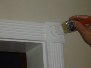 How to touch up painted interior trim.