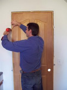 Ez-Hang Door Installation Brackets make Interior Pre-Hung Door Installation a Snap