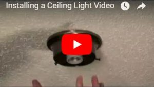 How to install ceiling shower light fixture