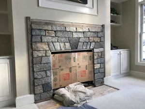 Natural Stone Veneer Fireplace Surround