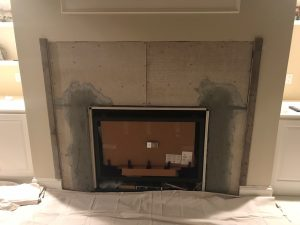 Gas Fireplace Insert Installed