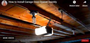 How to Install a Garage Door Opener Quickly