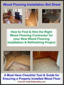 Wood Floor Installation Bid Sheet