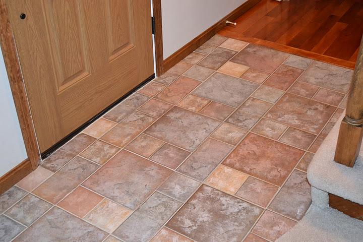 Slate floor tile kitchen