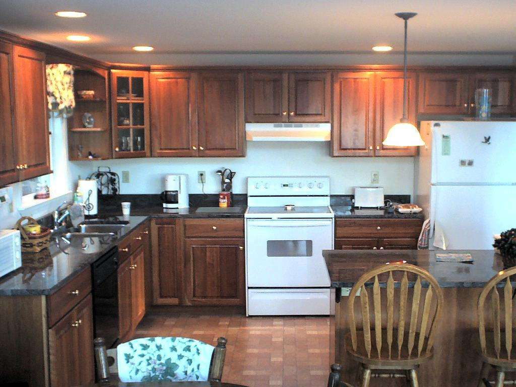 Kitchen addition with granite kitchen countertops can lights and
