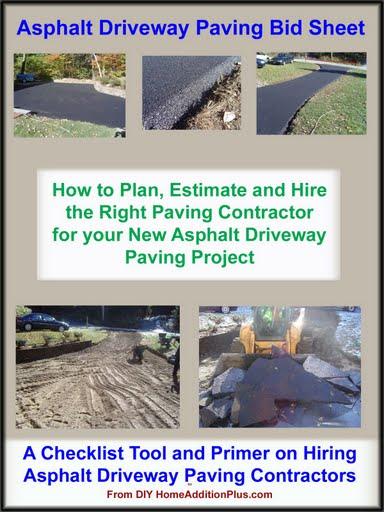 Asphalt Contractor Bid Sheets For Www Picsbud Com