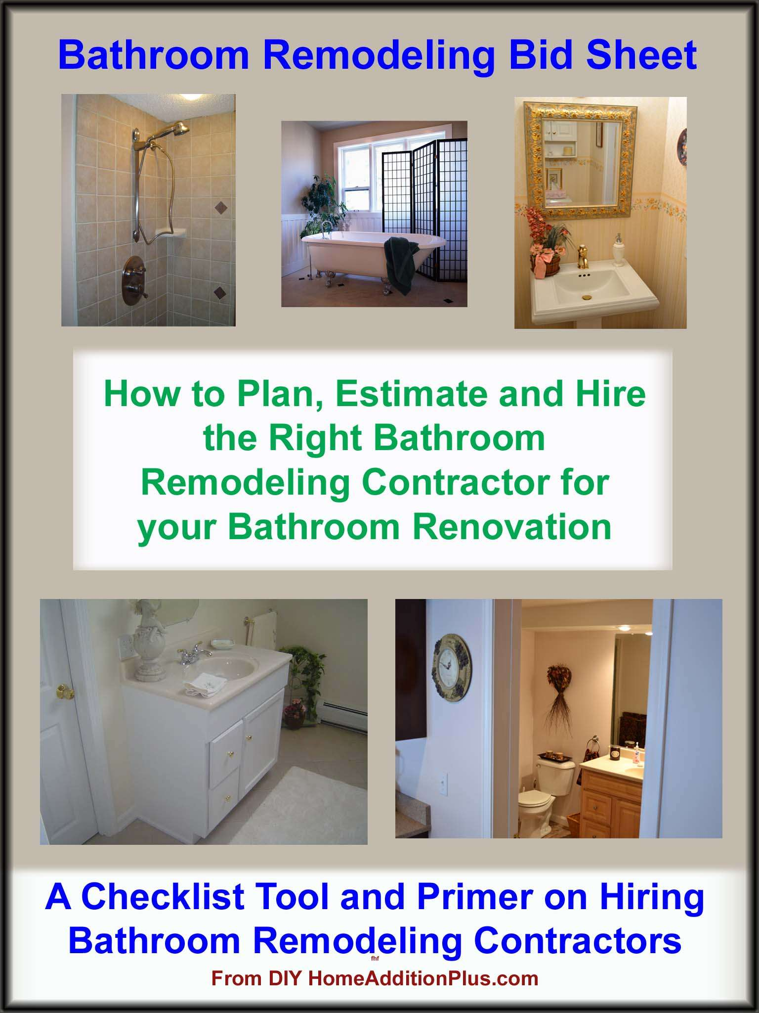 Bathroom remodeling bid sheet bathroom remodeling hire - Bathroom renovation order of trades ...