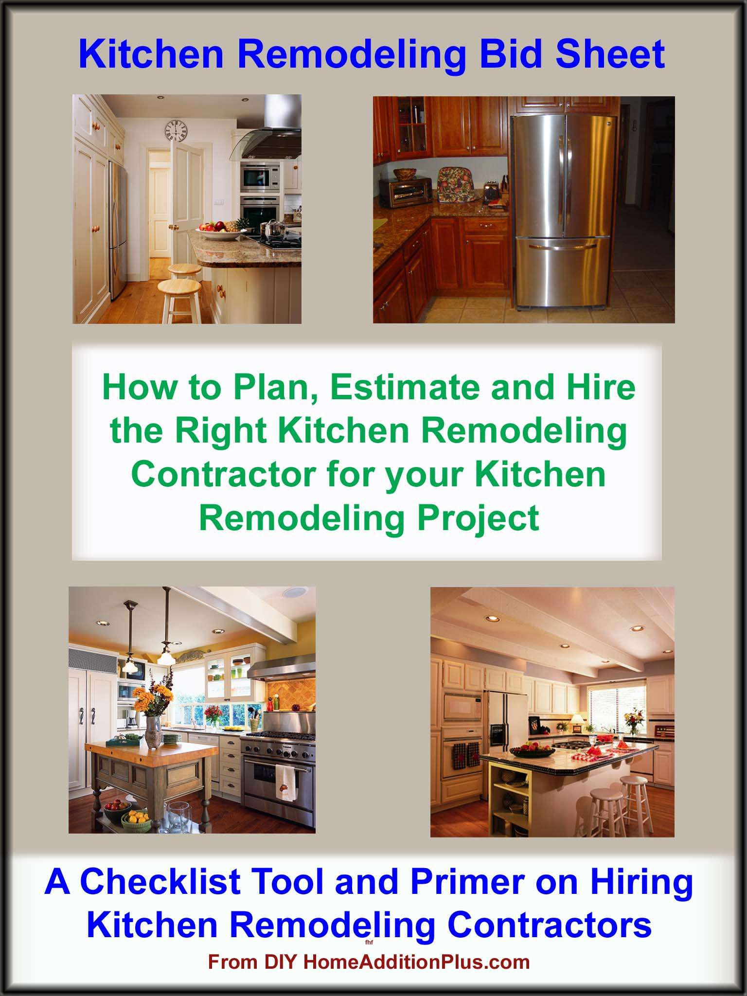 Kitchen Remodeling Bid Sheet