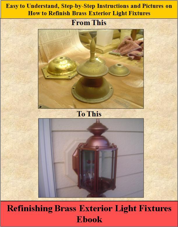 Refinish Brass Light Fixtures How To Refinish Brass