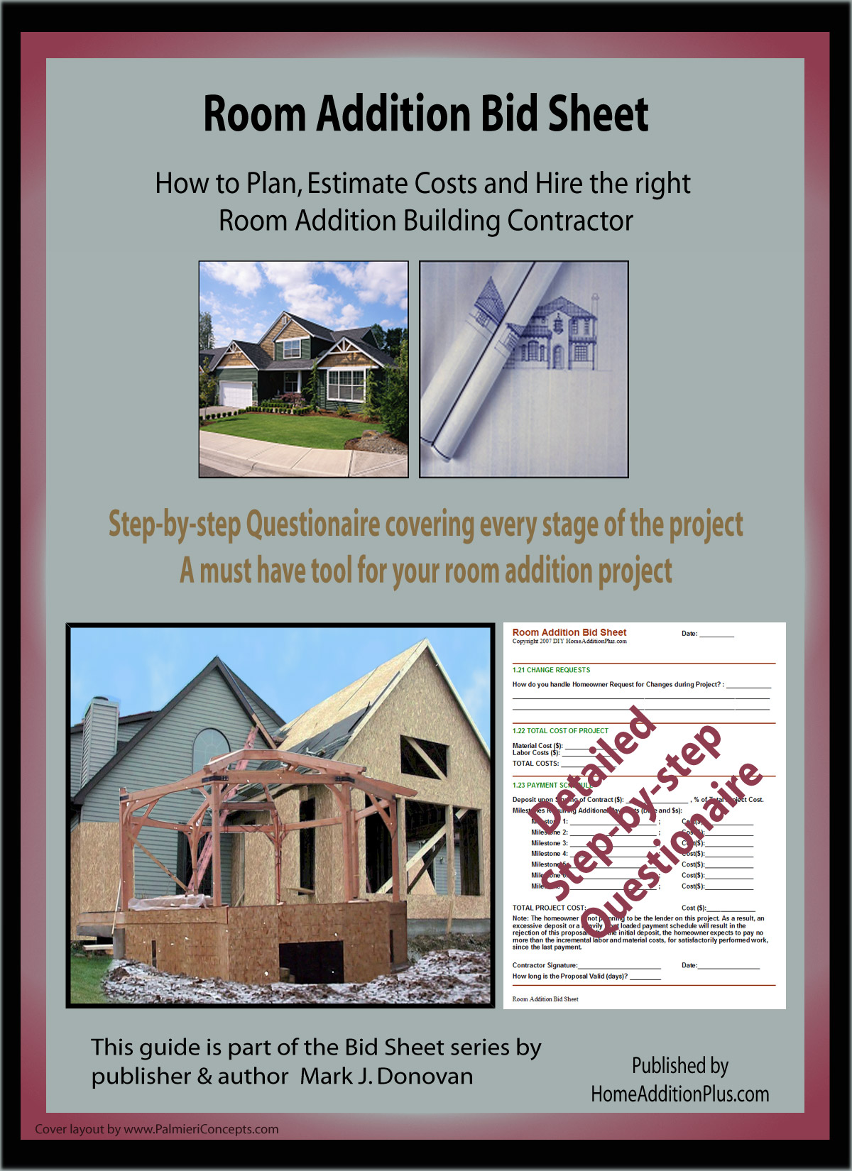 New home construction costs breakdown - Room Addition Bid Sheet Room Addition Plan Room