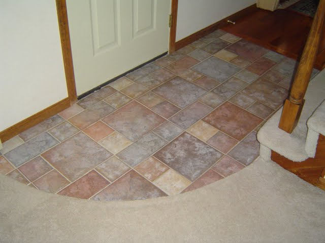 Curved Ceramic Tile Entrance Way